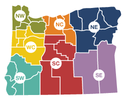 Oregon Region Map